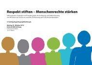 Respekt stiften – Menschenrechte stärken - Hirschfeld-Eddy-Stiftung