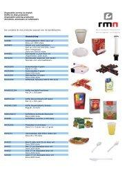 Disposable keuken en kantine producten, koffie en thee