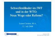 Schwellenländer im IWF und in der WTO - Fakultät für ...