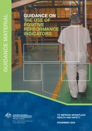 Guidance on the Use of Positive Performance Indicators - Safe Work ...