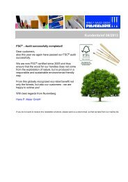 FSC®-Audit successfully completed - Newsletter 04/2013