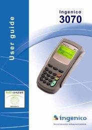 Ingenico 3070 User guide - BarcodeMuseum.com