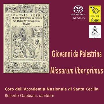 Giovanni da Palestrina Missarum liber primus - Bach Cantatas
