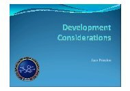 Development Considerations