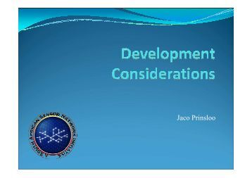 Development Considerations
