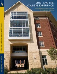 2012 Live The CoLLege experienCe - The University of Akron