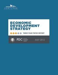 Three Year Status Report - Portland Economic Development Strategy