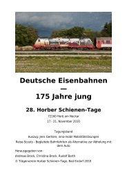 Deutsche Eisenbahnen — 175 Jahre jung - inno-mobil