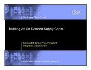 Building An On Demand Supply Chain - Supply Chain Council