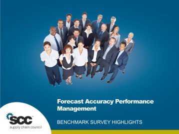 Forecast Accuracy Performance Management - Supply Chain Council