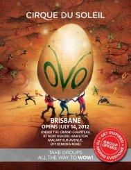 BRISBANE - Cirque du Soleil