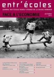 FACE A L'ECONOMIE - Rudolf Steiner Schulen der Schweiz