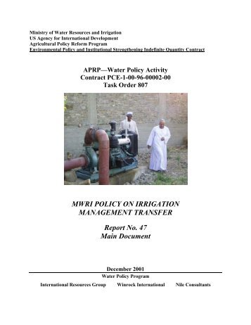 Report 47 MWRI Policy on Irrigation Management Transfer