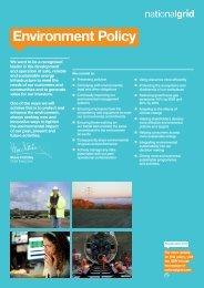 Environmental Policy - National Grid