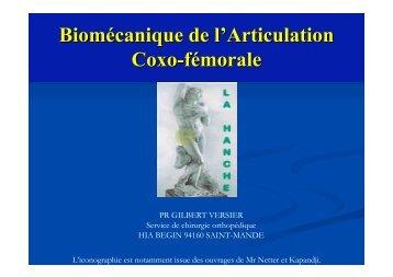 Biomécanique de l'articulation coxo-fémorale G. Versier - ClubOrtho.fr
