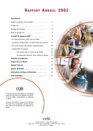 RAPPORT ANNUEL 2002 - Groupe Crit