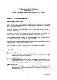 Vedligeholdelsesreglement for afdeling 701 Fælledparken o...