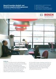 Bosch Praesideo Notfall- und ... - Deininger GmbH