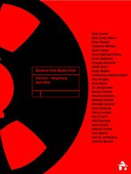 Queens Park Music Club Volume One