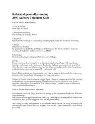 Referat af generalforsamling 2007 Aalborg Triathlon Klub