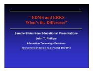 """"""" EDMS and ERKS What's the Difference"""" - AIIM"""