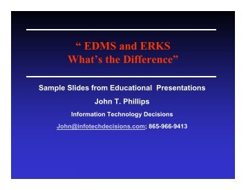 """ EDMS and ERKS What's the Difference"" - AIIM"