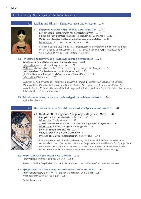 A Einfuhrung Grundlagen Des Deutschunterrichts A 1 Realitat Und