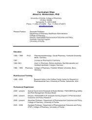 Curriculum Vitae Almut G. Winterstein, Phd - College of Pharmacy ...