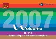 Welcome Week Programme - University of Wolverhampton
