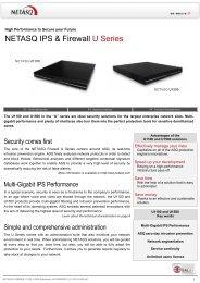 NETASQ IPS & Firewall U Series - C-MI Labs