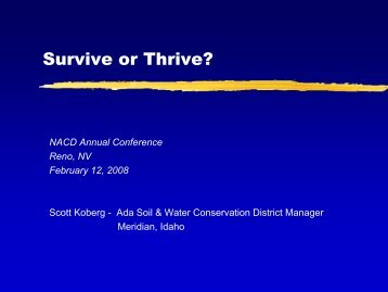 Survive or Thrive - National Association of Conservation Districts