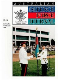 ISSUE 116 : Jan/Feb - 1996 - Australian Defence Force Journal