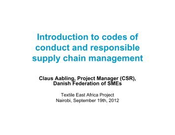 COC and RSCM - Cotton Africa