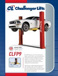 "CLFP9 The CLFP9 features a 10' 7/8"" overall ... - Challenger Lifts"