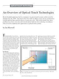 An Overview of Optical-Touch Technologies - Walker Mobile, LLC