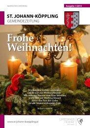 1 Gemeindezeitung 2014 - Gemeinde St. Johann-Köppling