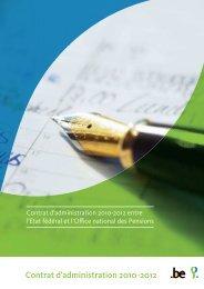 Contrat d'administration 2010-2012 - ONP