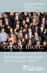 Wharton MBA Program for Executives 2005 - The Wharton School of ...