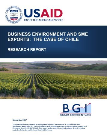 business environment and sme exports: the case ... - Economic Growth