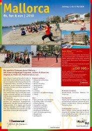 fit, fun & sun | 2010 - Reisebüro SUAC AG