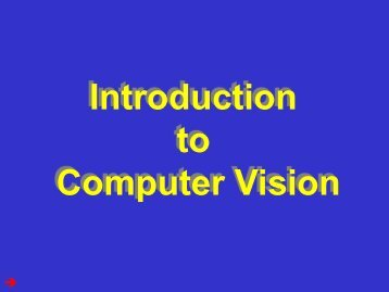 Introduction - Computer Vision Lab