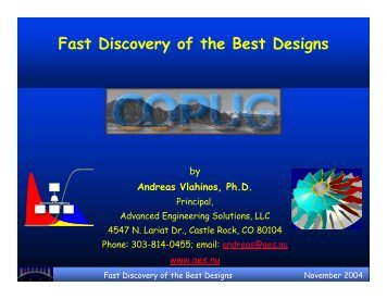 Fast Discovery of the Best Designs - Aes.nu