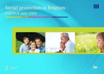 Social protection in Belgium : ESSPROS data 2009 (.pdf)