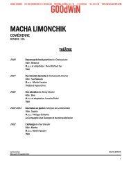 MACHA LIMONCHIK - Agence Goodwin
