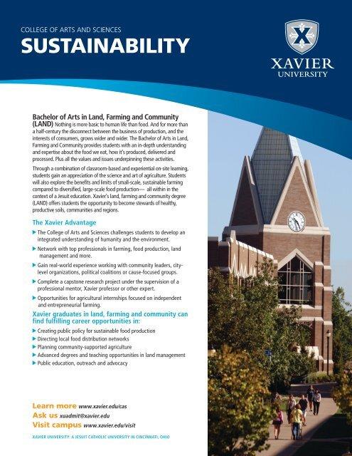 Download the Land, Farming & Community ... - Xavier University
