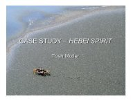 Case Study (HEBEI SPIRIT, South Korea) - ITOPF
