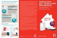 Vodafone lohnt sich – mit bis zu 120€ Wechselprämie!1