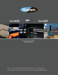 2011 Professional Solutions Catalog - Gefen