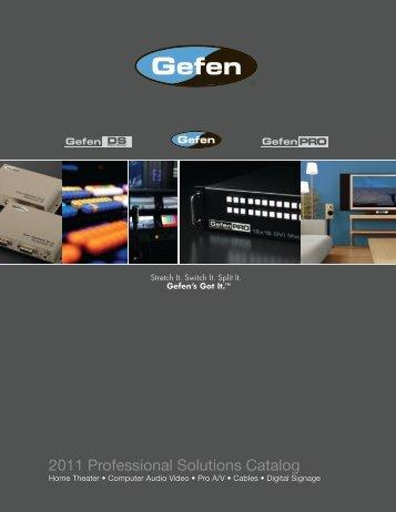 2011 Professional Solutions Catalog - Gefen