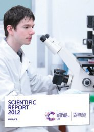 scientific report 2012 - The Paterson Institute for Cancer Research ...